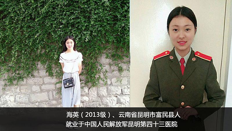 军队护理专业部分就业学员