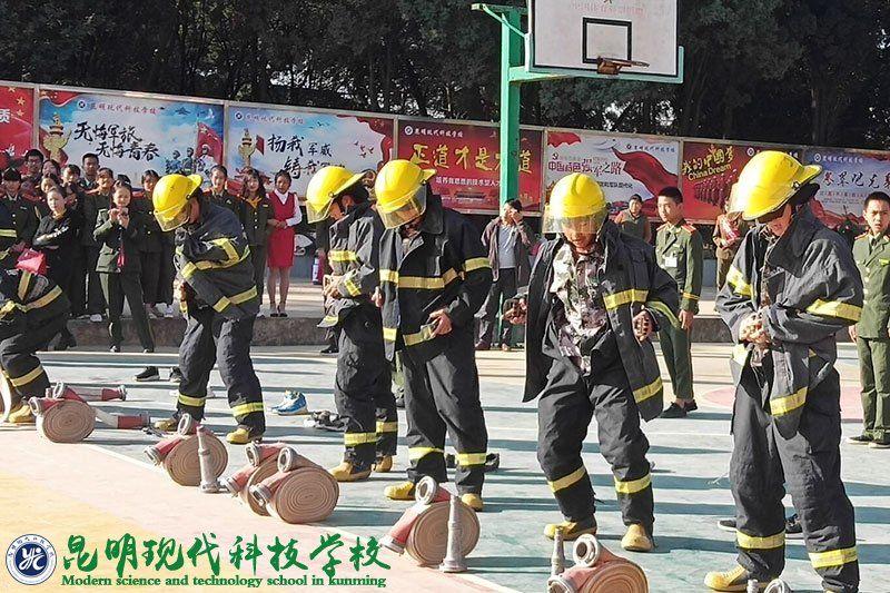 第5届家长开放日--消防专业水带